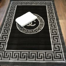 Modern Aprox 6x4ft 115x165cm Woven Stunning Rugs GYPSY WASHABLES Black/Grey